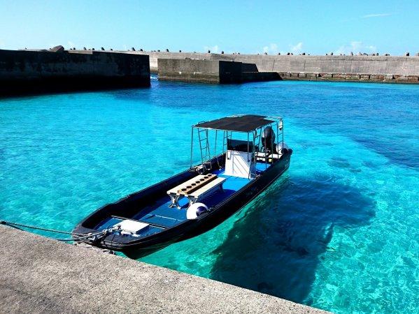沖永良部島の海は透明度抜群!