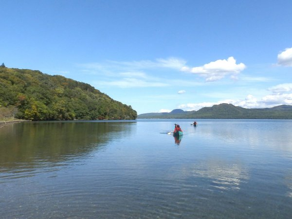 屈斜路湖をのんびりクルージング