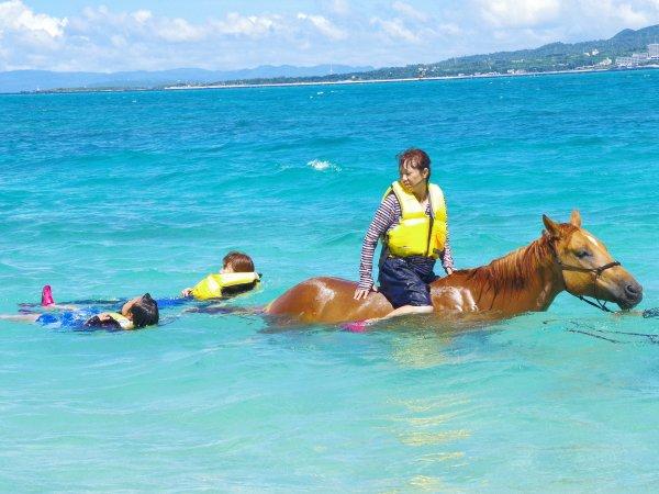 馬と一緒に海遊び!うみうまあそびコース