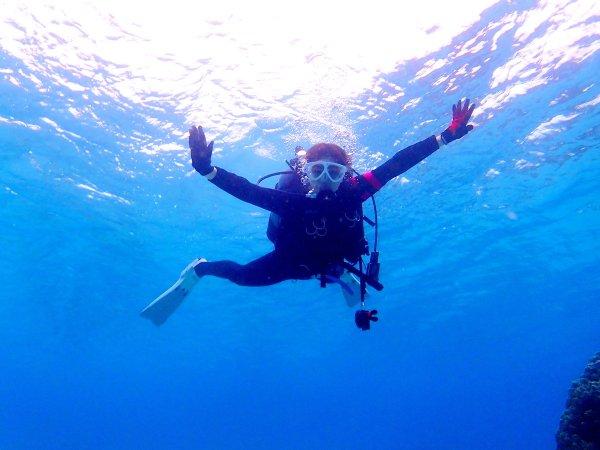 ダイビング特有の浮遊感を全身で感じよう!