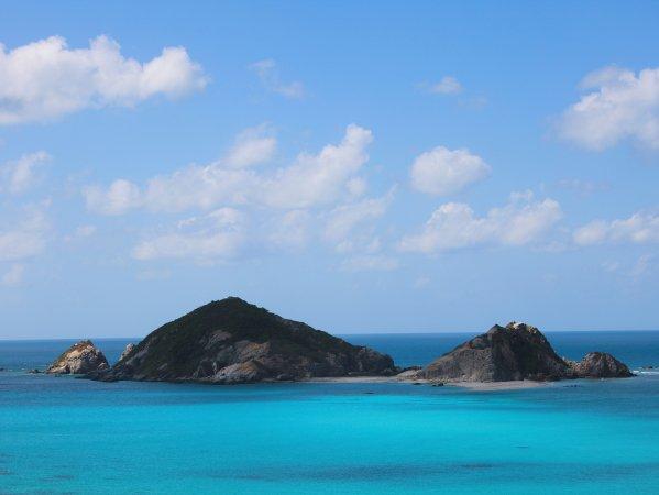美しいケラマブルーの海