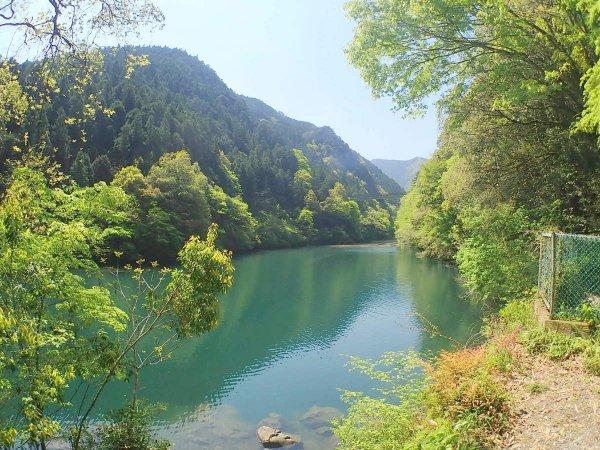 自然に囲まれた白丸湖が舞台