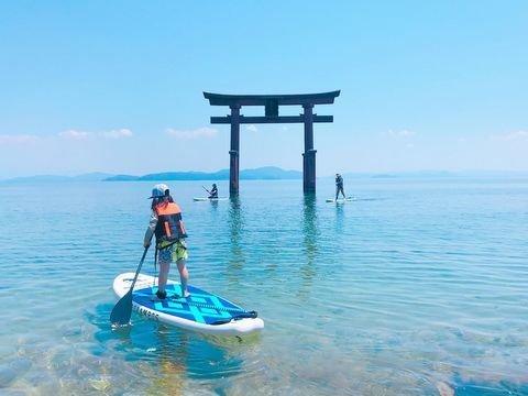 琵琶湖 白ひげサップ体験