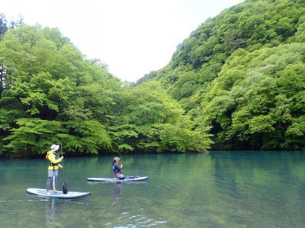 美しい四万湖をゆったり自然を感じながらSUPクルージング!