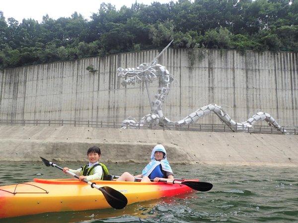 大きな龍に出会える、おおたき龍神湖