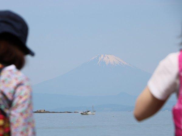 天気が良ければ目の前には富士山が!