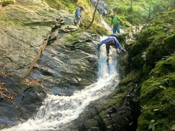 美山 キャニオニング・シャワークライミング