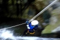 スリル満点!ジップスライダー!ロープを使った本格的なキャニオニングコースです。