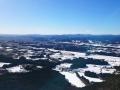 空の上から美しい冬景色を楽しめます。