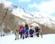 谷川連峰の岩壁郡を見渡せるフィールドです。