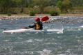 1日コースでは、流れのあるところの川くだりにもチャレンジ!