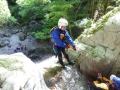《どきどきコース》:14m・18m・22mの滝があり、ロープを使い下降します。スリル・迫力満点のコースです。