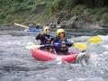 《ラフティング》と《ダッキー》が一緒に楽しめる!ボートを自ら操り川下りが楽しめる!