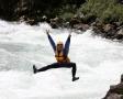 岩から飛び込んだりもできちゃいます。川遊び盛り沢山です!!