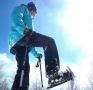 乗鞍高原は7つの凍った池など、広大なスノーシューフールドです。