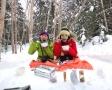 ●小さいお子様・ご家族におすすめの、雪遊び満載コースもあり!スライダーや自作おやつタイムもあり!