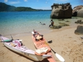 プライベートビーチで休憩。ビーチシュノーケリングを楽しもう