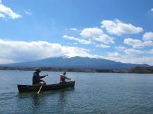 河口湖カヌーツアー(カナディアンカヌー)