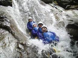 長良川源流シャワークライミングツアー