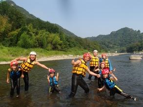 小学1年生から参加OK!ご家族で楽しめる爽快ラフティングツアー!