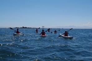 一緒に漕ぐと楽しさも倍増。スクールで会った方とも仲良くなれます。