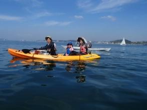 ちょっと頑張って漕げば無人島はすぐそこ。《葉山おさんぽツアー※シットオントップ艇使用》