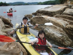 2人艇は、初心者にも安心の安定性。もちろん1人艇もOK。
