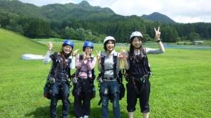 体験後はみんな最高の笑顔になりました。飛びたくなったら又来てくださいね。