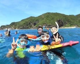 海遊び初体験の方や、4歳のお子様もご家族で気軽に楽しめる《シュノーケリングコース》もあり!