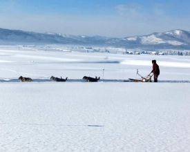 天気がよい時は遥かに大雪山連邦、十勝岳連峰が屏風のように見渡せる、開放感あふれるエリア!