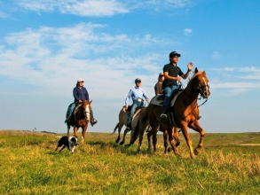 「アパッチコース」「西部開拓コース」では、オプションで≪速歩または駆足体験≫も可能!