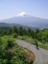 道中の休憩箇所では四季折々の富士山を眺めることができます
