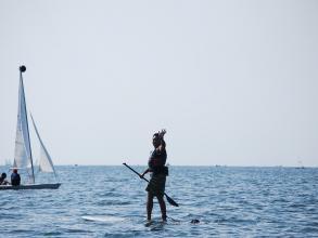 風光明媚な逗子湾でSUP